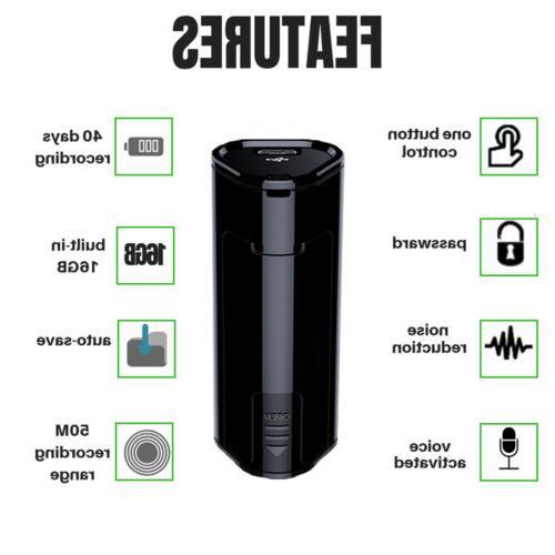 Hidden Voice Activated Spy Digital Audio Recording Device 16GB