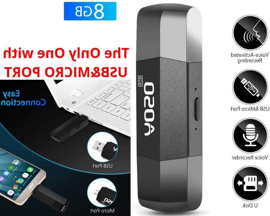 hidden voice activated recorder usb and micro