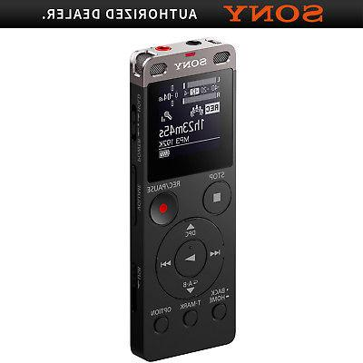 icd ux560blk stereo digital voice recorder black
