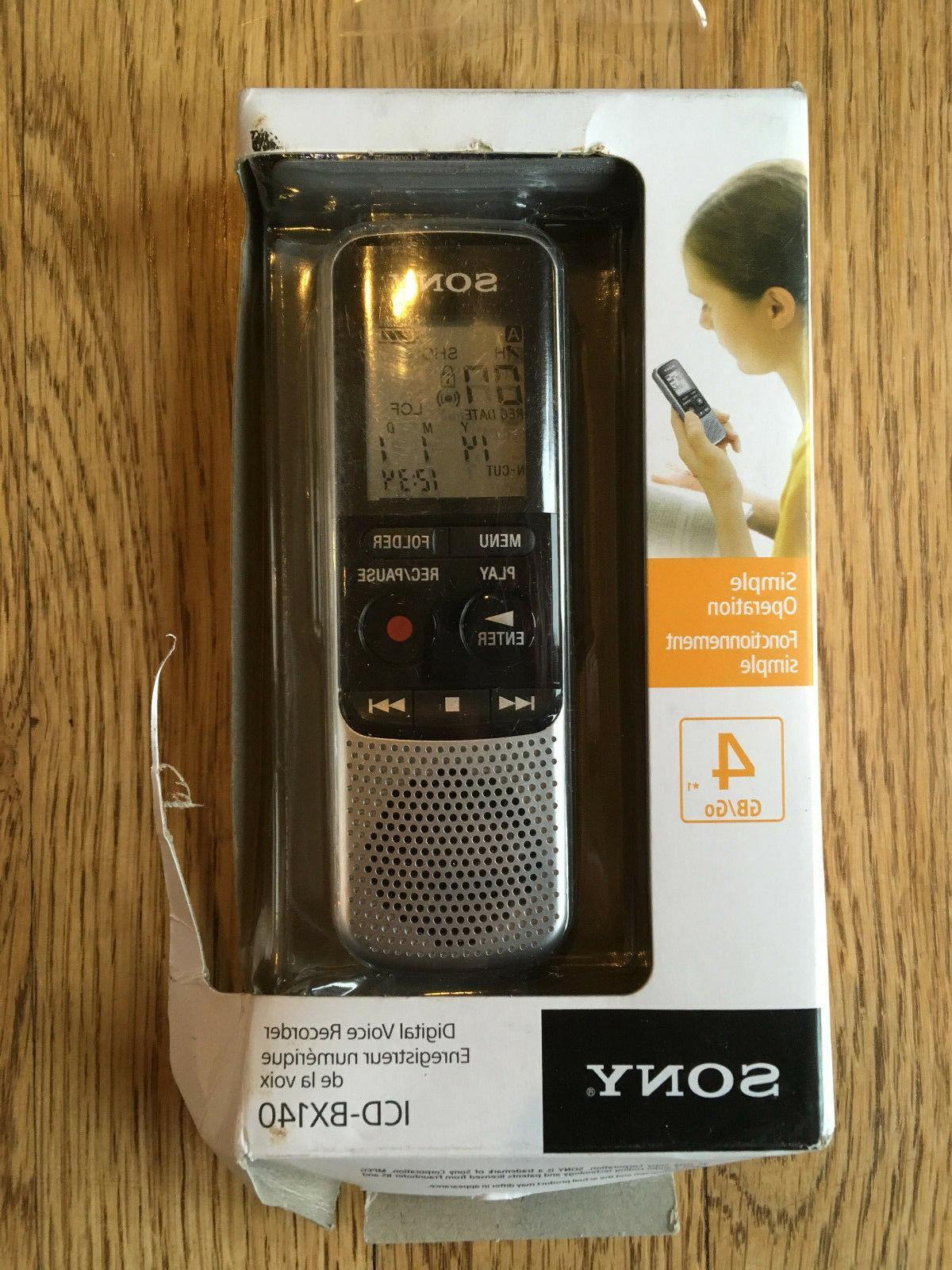 icdbx140 4gb digital voice recorder new