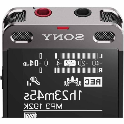 Sony ICDUX560BLK Digital Voice Recorder USB bundle