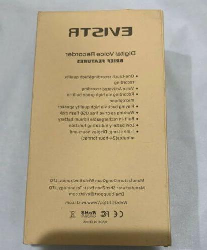 EVISTR 16gb Digital Voice Reorder Portable Open Box. Free Shipping