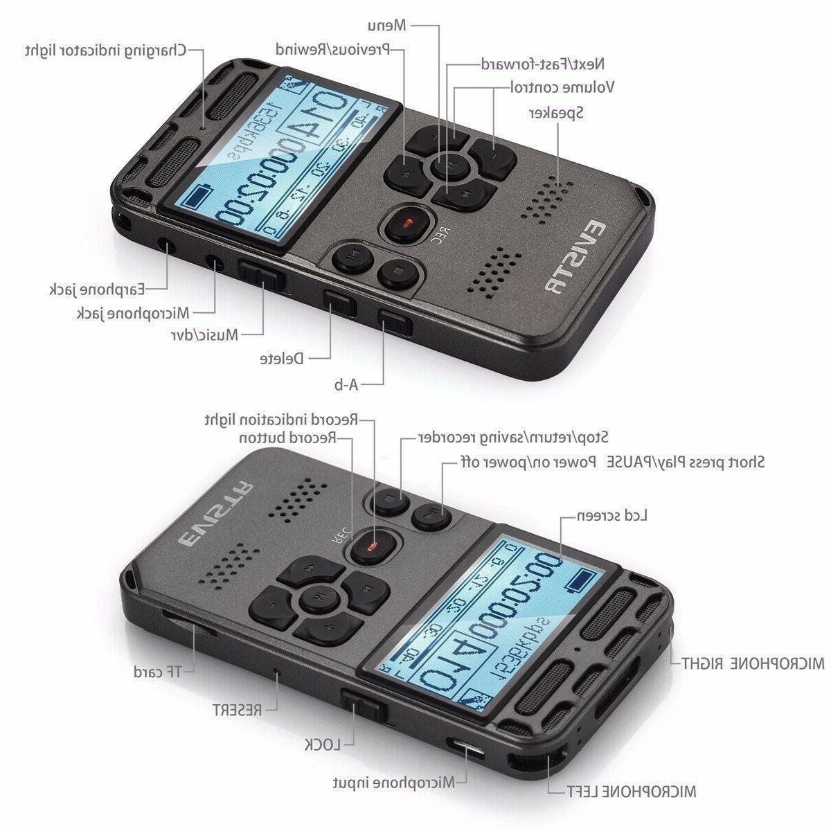 EVISTR L58 Digital Recorder TF Card Slot