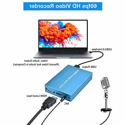 4K 1080p HD To USB 3.0 Capture Card Video Recorder