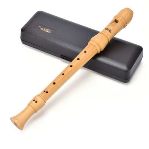 Maple Soprano Recorder Set & Chart