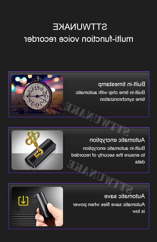 STTWUNAKE Mini Audio <font><b>Voice</b></font> <font><b>Recorder</b></font> recording HD Dictaphone