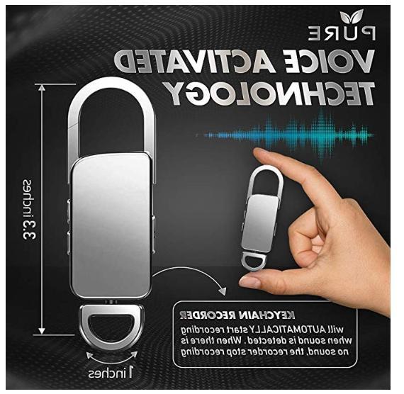Mini Spy Voice Listening Device 90 Keychain Life