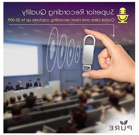 Mini Spy Voice Listening 90 Hours Keychain Life