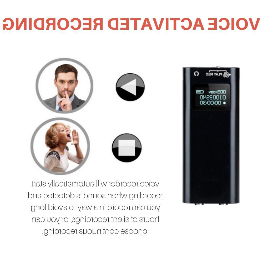 Mini Audio Recorder Voice 200 Hours 16 Lecture