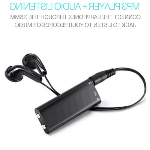 Mini Spy Recorders Voice Activated 8/16 Bug Player