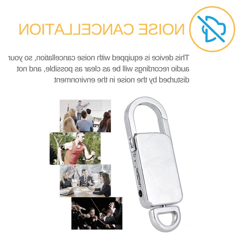 Mini Spy Recorder Voice Listening 90 Keychain