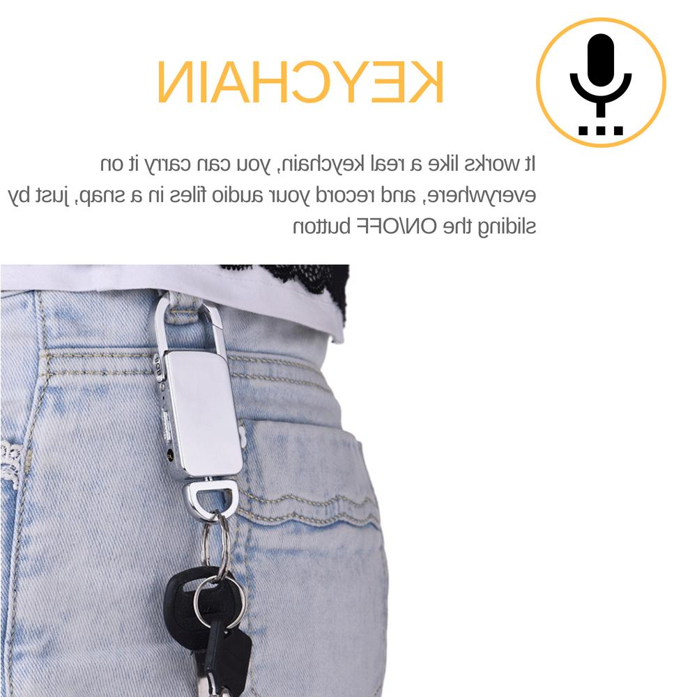 Mini Audio Recorder Voice Activated Device 90 Hours Keychain