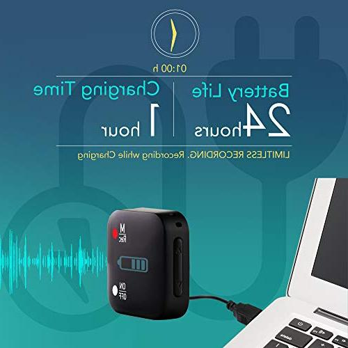 Mini Recorder Voice 286 Hours Life Password Protection Upgrade