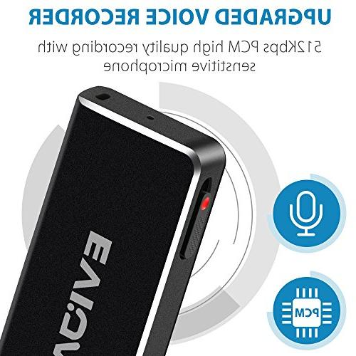 Mini Voice Lectures,EVIDA Sound Audio Dictaphone Device,USB,Rechargeable