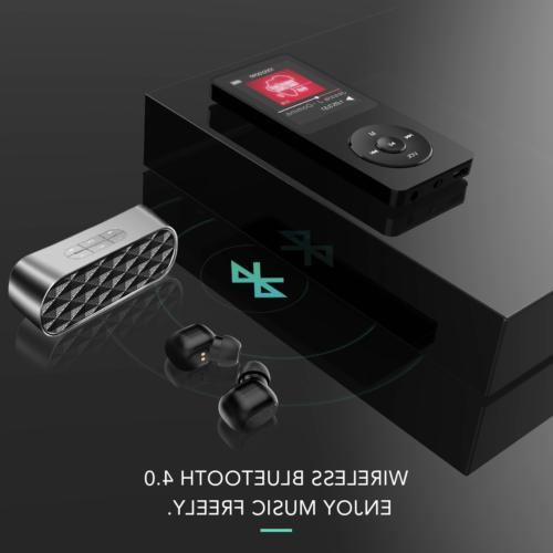 AGPTEK MP3 Player Bluetooth 4.0 8GB FM Radio/Voice