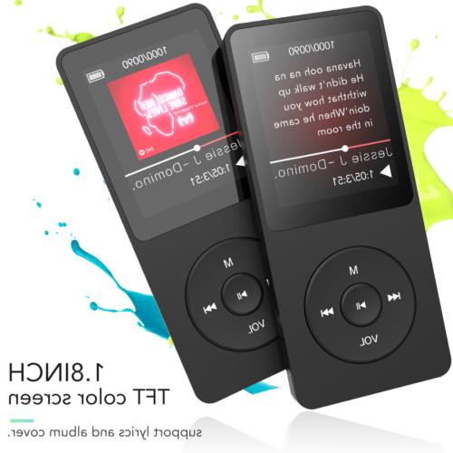 AGPTEK MP3 Player 4.0 8GB Upgraded with FM Radio/Voice