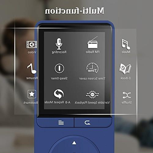 16GB Player, A20S with FM Radio/Voice for Sport,Dark Blue