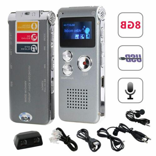 MP3 Player Voice Sound Recorder 8GB 650