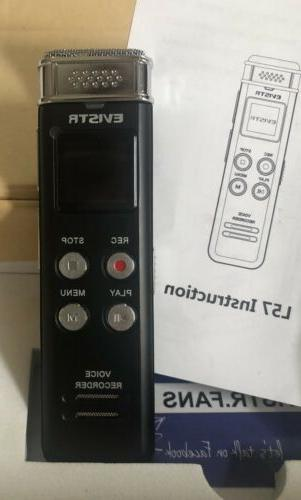 New! EVISTR Mini Recorder Speaker L57 Black 8GB