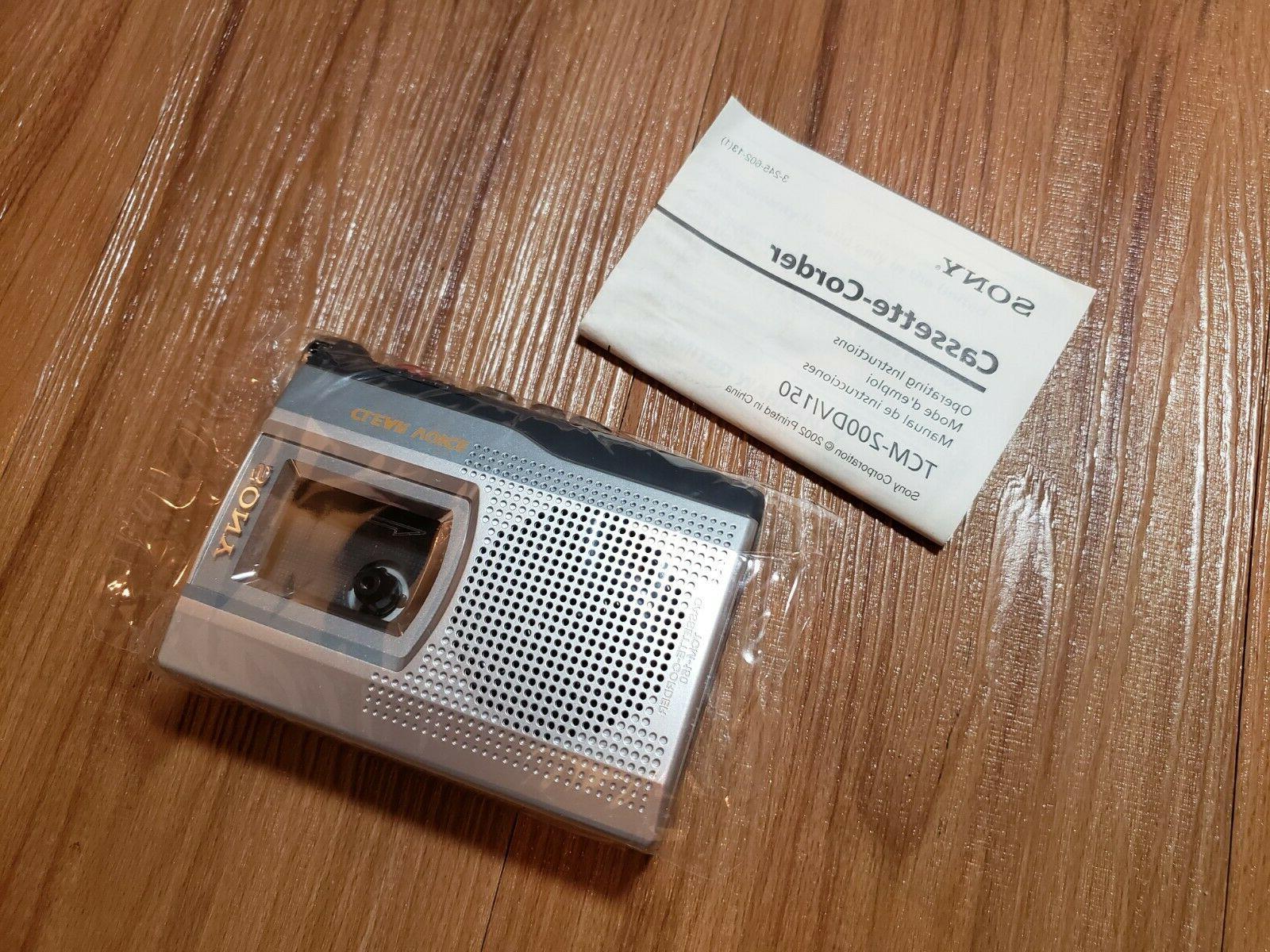 new tcm 150 handheld standard cassette clear
