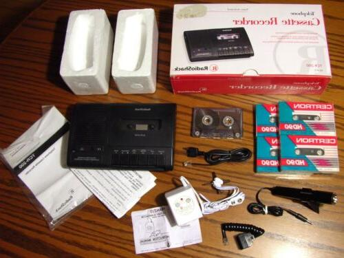 new tcr 200 voice activated telephone cassette