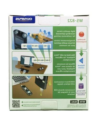 Olympus WS-822 Recorders Built-In-Memory Brand