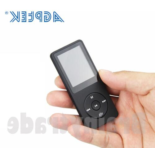 AGPTEK® Portable MP3 Player FM Lossless Support to 64 GB