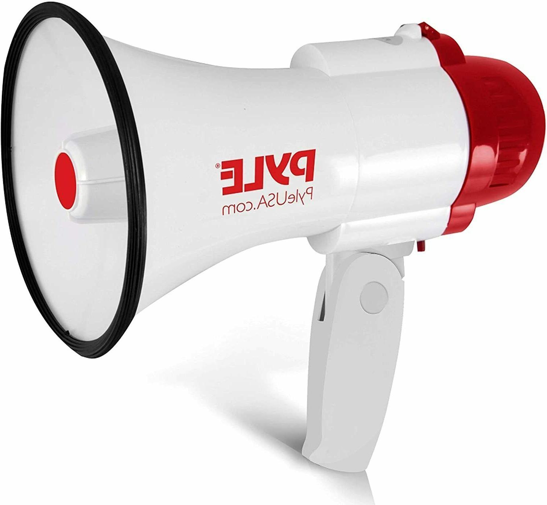 pro handheld megaphone bull horn with siren
