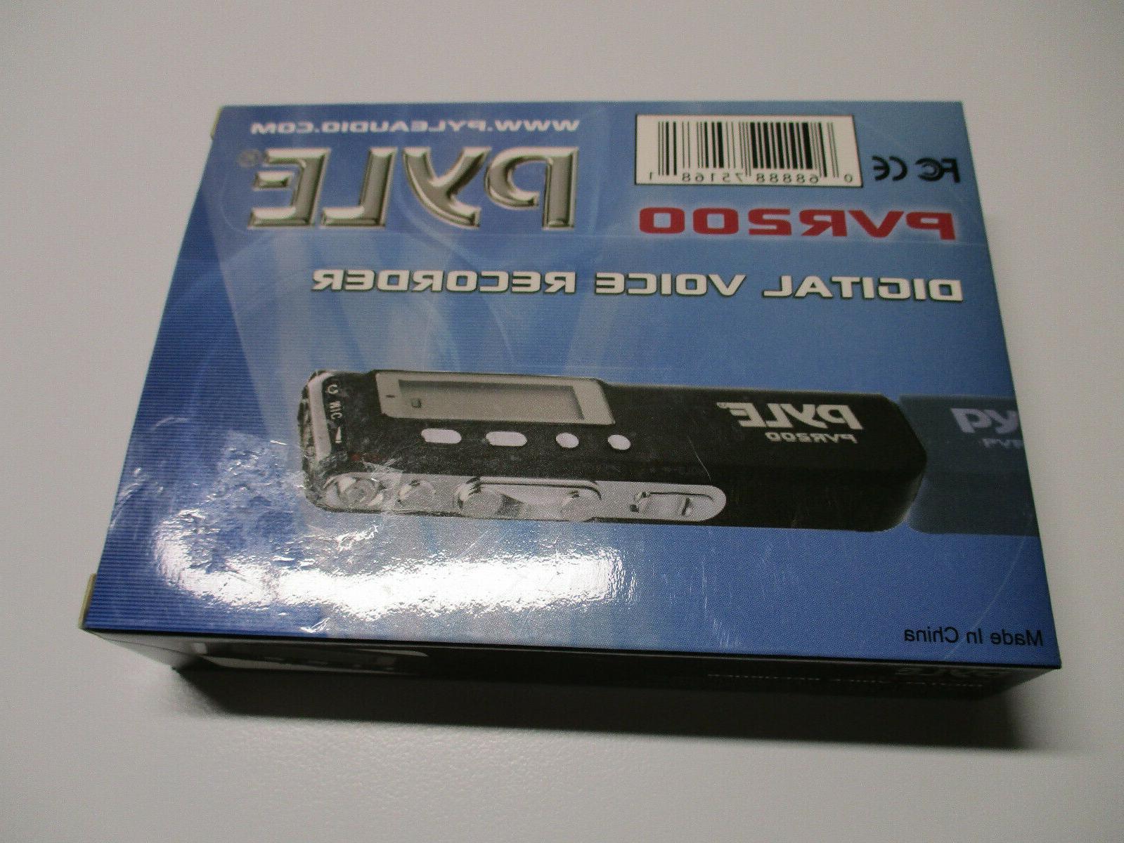 pvr200 4gb digital lcd voice recorder headphone