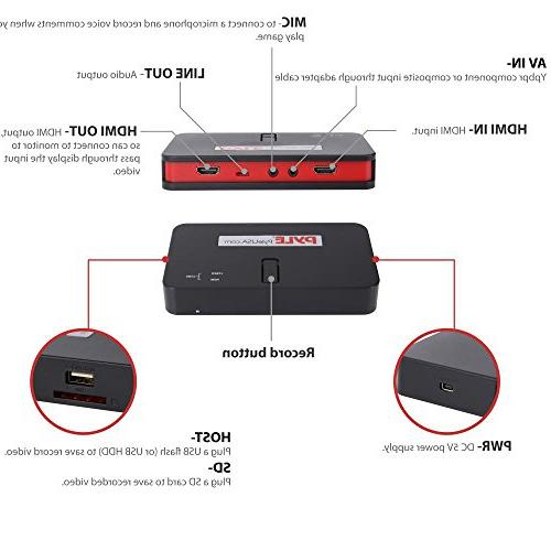 Pyle HD Capture Card Video System - Record Full HD
