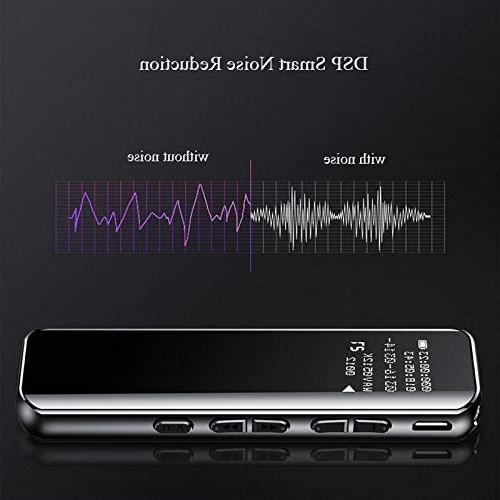 Digital Rechargeable Voice by MJAY Black USB - Office Device - OLED Glass - Tape MP3