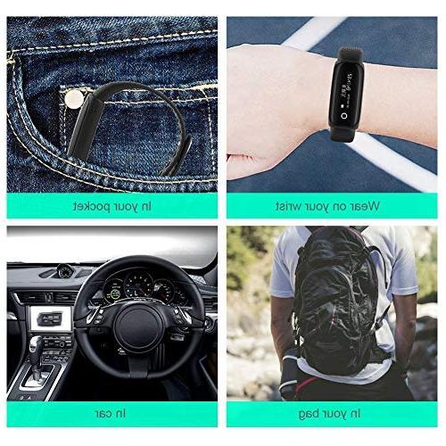 ASHATA Bracelet, Portable Smart Sports Flash HiFi Rechargeable Voice Audio Watch for Business/Education/Meeting/Tourism