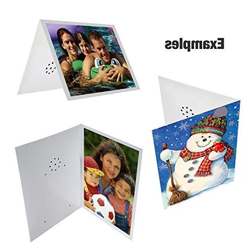 Recordable Greeting Card, Seconds Plain DIY. and Send Your own Personal Message.