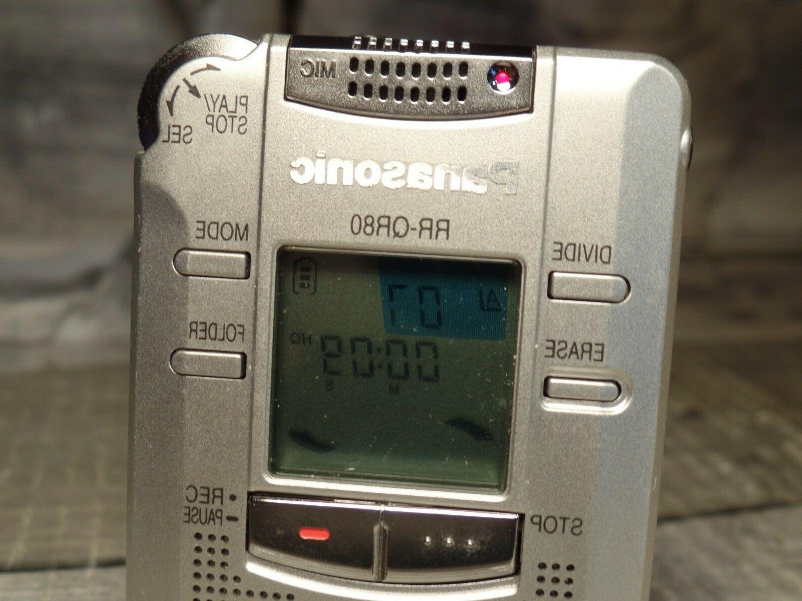 PANASONIC RR-QR80 Handheld Voice Recorder Working