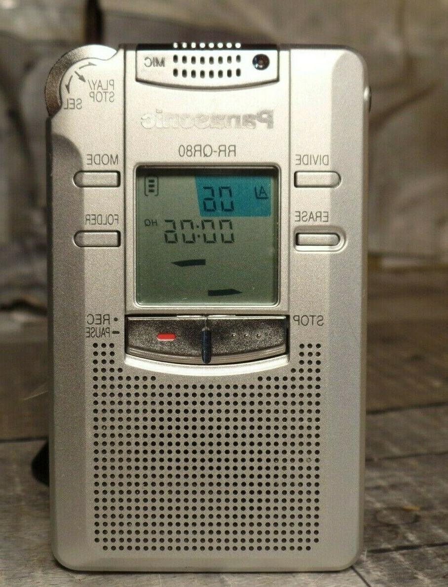 rr qr80 handheld digital voice recorder clean