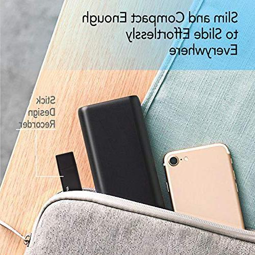 Slim – Flash | | - 94 Hours Capacity | 512 Kbps Audio Easy Use USB Memory | lightREC