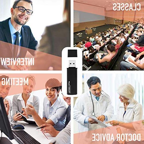 Slim – USB Flash | Battery | 8GB Hours | Kbps Quality Easy Use Memory Stick Sound | lightREC by aTTo Digital