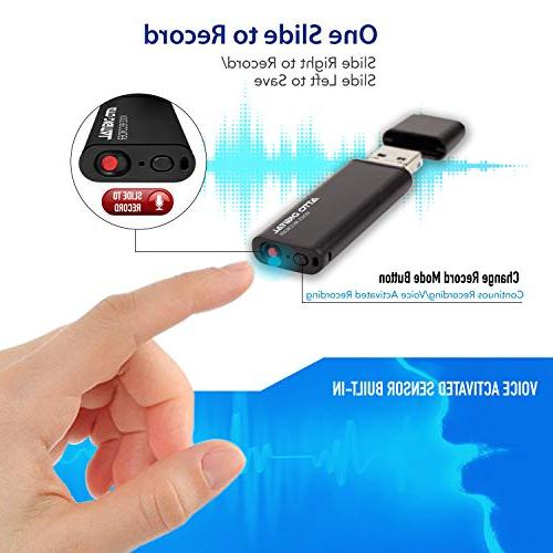 Slim Activated – Flash | | 8GB - Hours Capacity Kbps Easy to Memory Stick | aTTo Digital