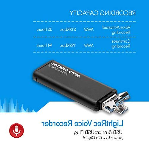 Slim – Drive | | 8GB Hours | 512 Kbps Quality Easy Use Memory Sound Recorder | Digital