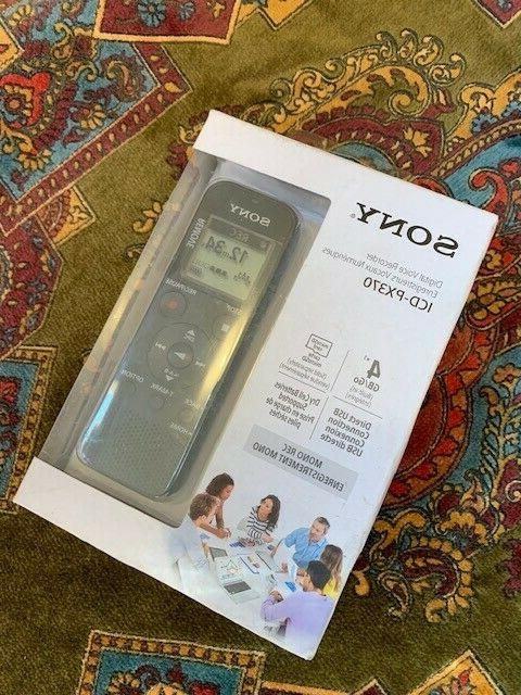 sony icd px370 digital voice recorder w