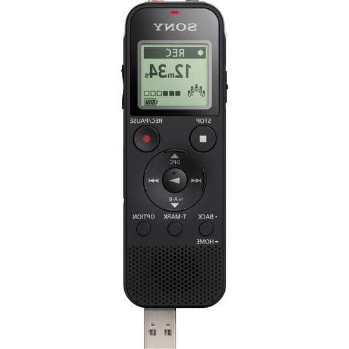 Sony Voice and USB, Card Adjustable Range, Includes A Lavalier Mic