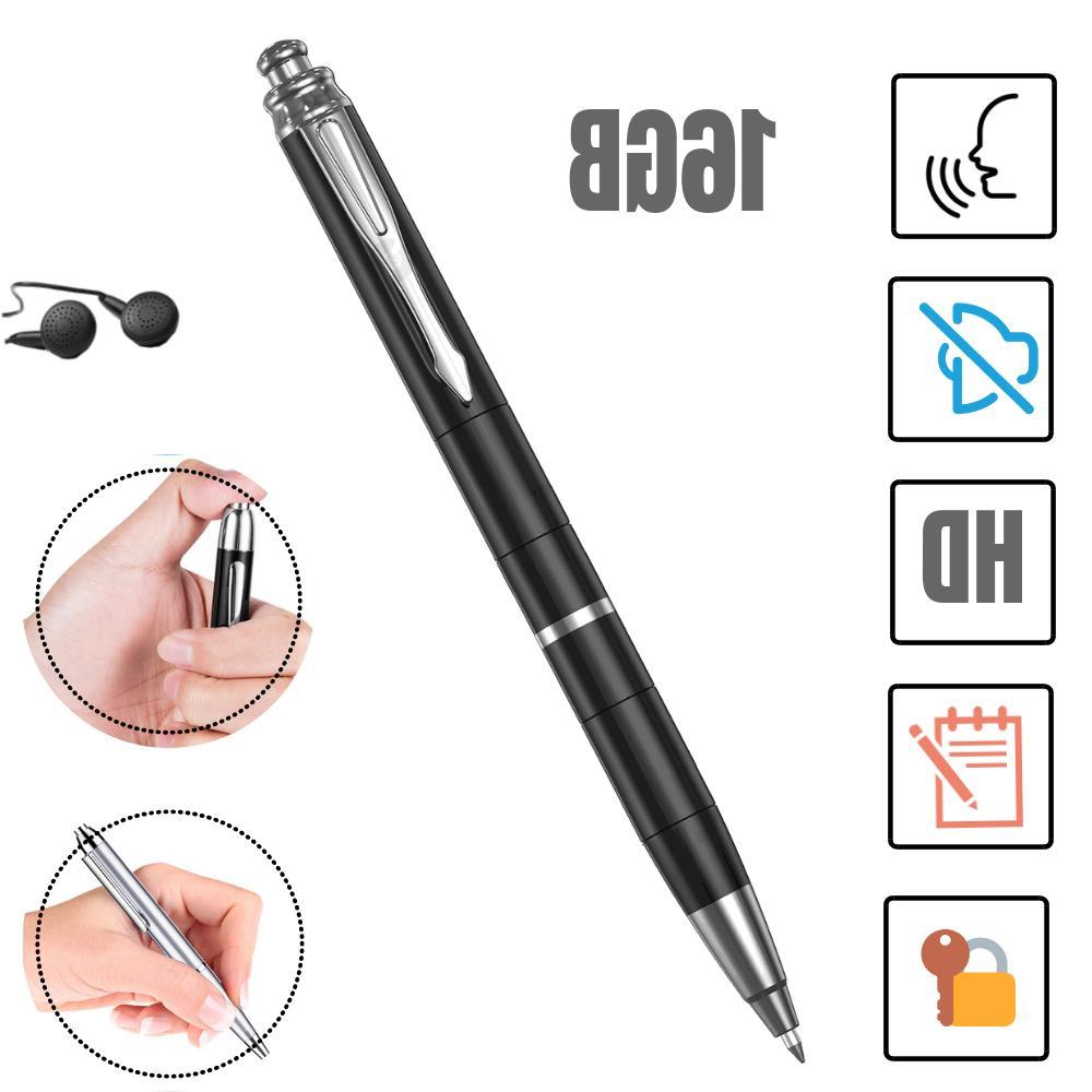 spy hidden voice activated recorder pen mini