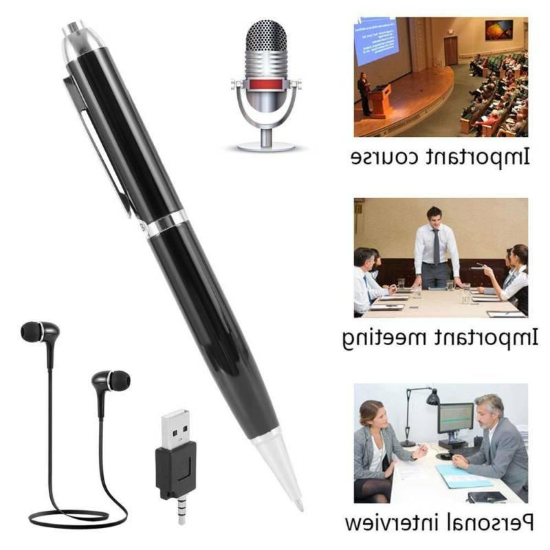 Spy Hidden Voice Activated Recorder Pen Mini Sound Audio Rec