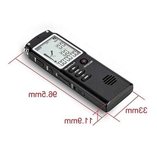 T60 Professional Digital Recorder Dictaphone MP3 Player