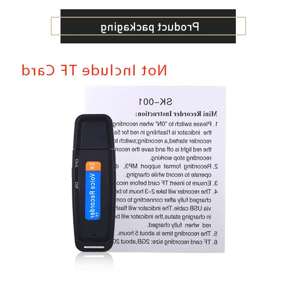 TISHRIC <font><b>Voice</b></font> <font><b>Recorder</b></font> <font><b>Digital</b></font> Dictaphone Audio <font><b>Recorder</b></font> USB 2.0 1-32GB Micro SD Card