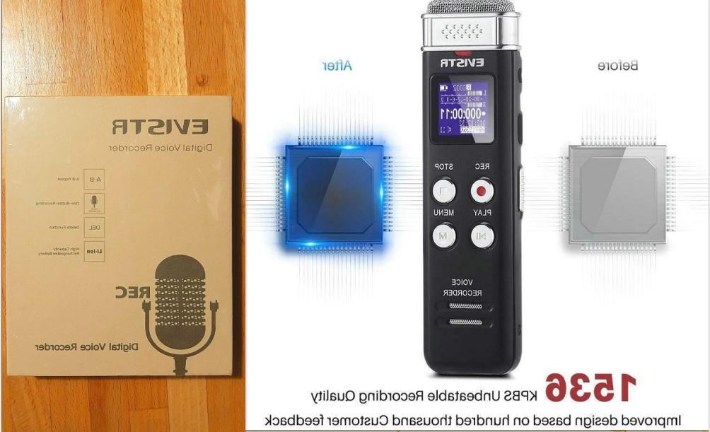 upgraded 1536kpbs 16gb digital voice recorder voice
