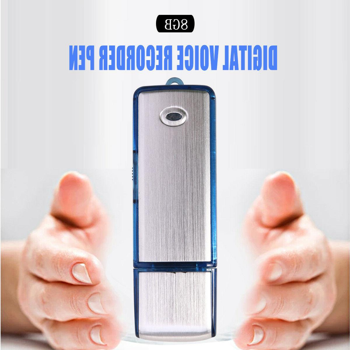USB 2.0 Voice Activated Spy Recorder 8GB Small Audio 150hrs