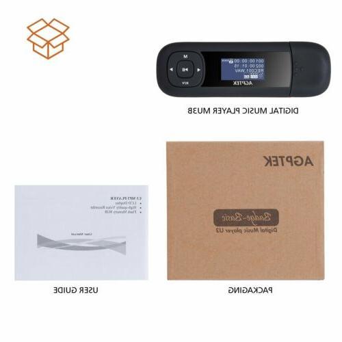 AGPTEK Stick Player Replaceable AAA Battery Black