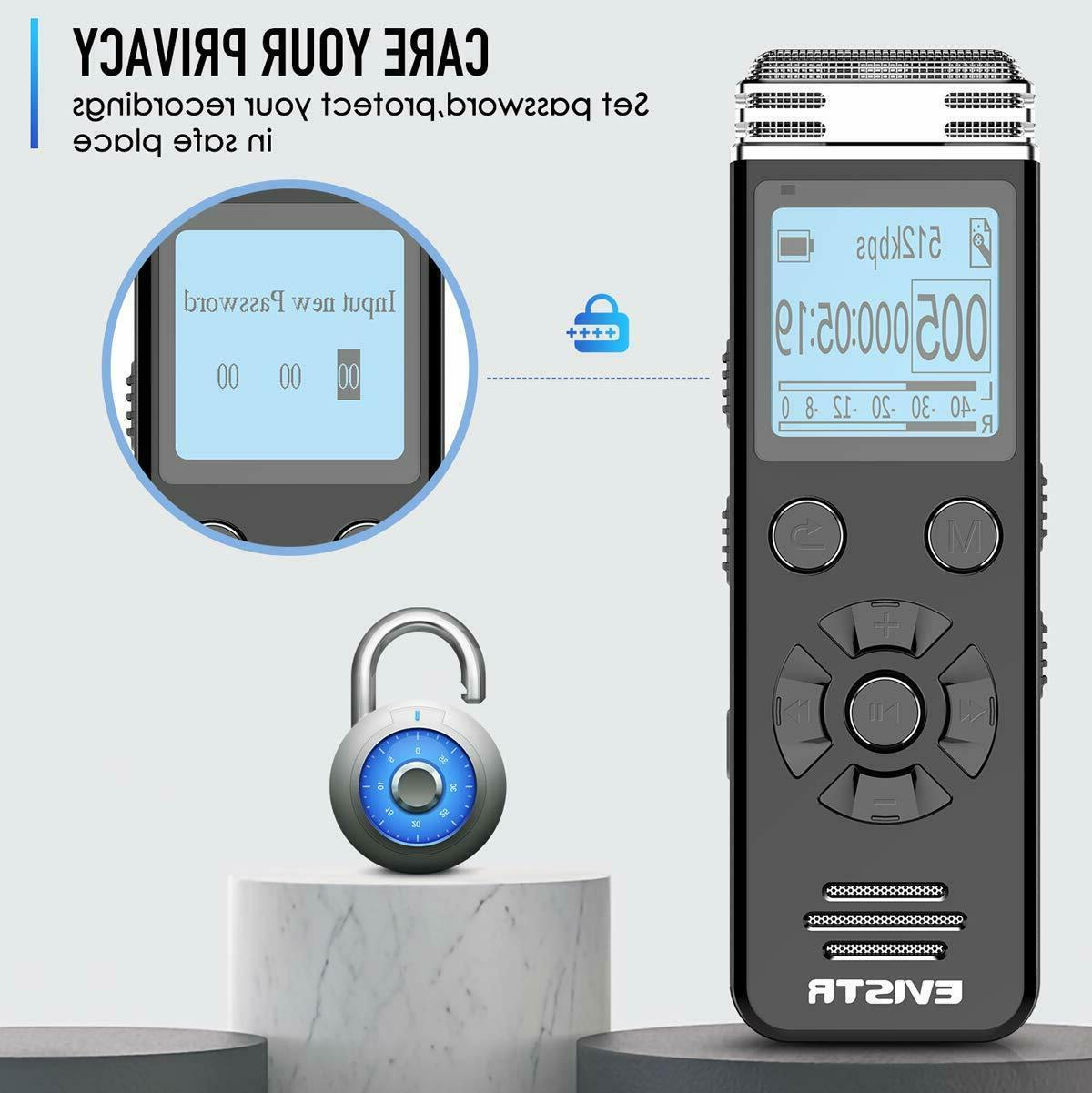 EVISTR Voice Recorder Lectures Meetings