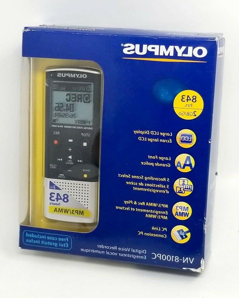 vn 8100pc digital voice recorder 2gb 843